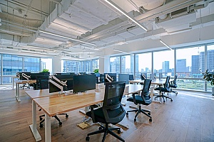 an empty office space after a business was able to make their relocation affordable